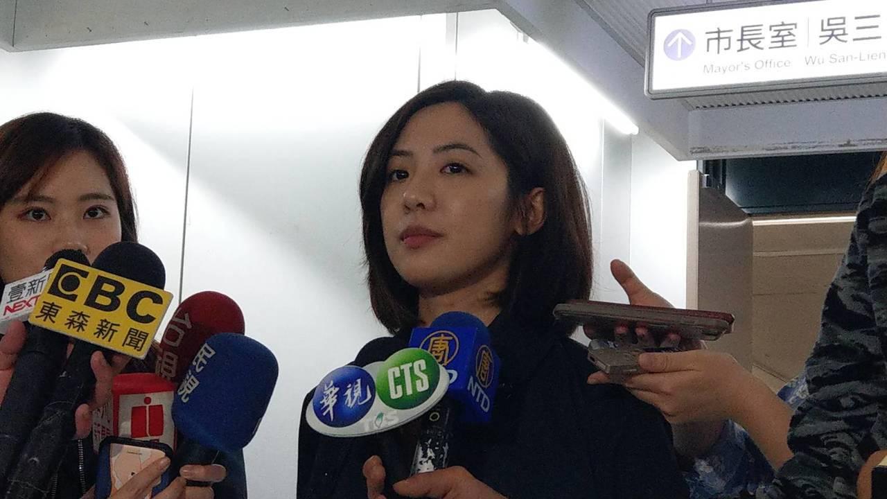 台北市府副發言人「學姐」黃瀞瑩。記者楊正海/攝影