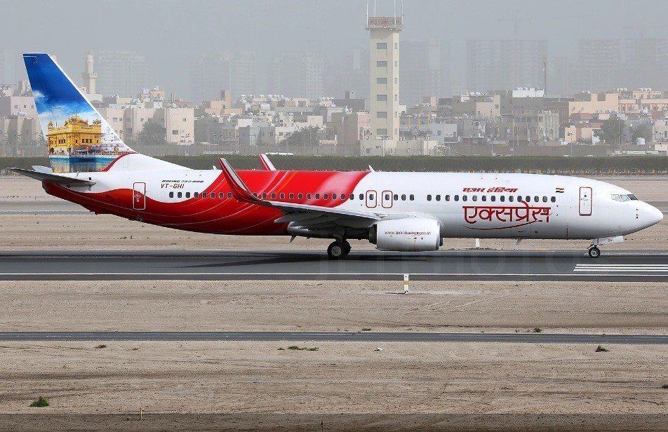 印度快運航空客機,非本新聞飛機。圖/取自印度快運航空臉書