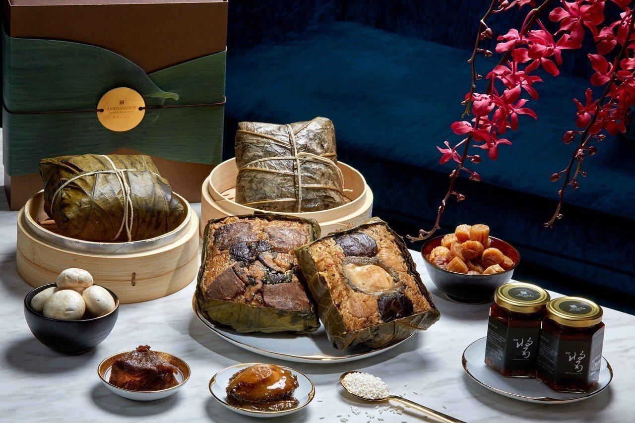 頂級海陸粽XO醬禮盒。 圖/台北國賓提供