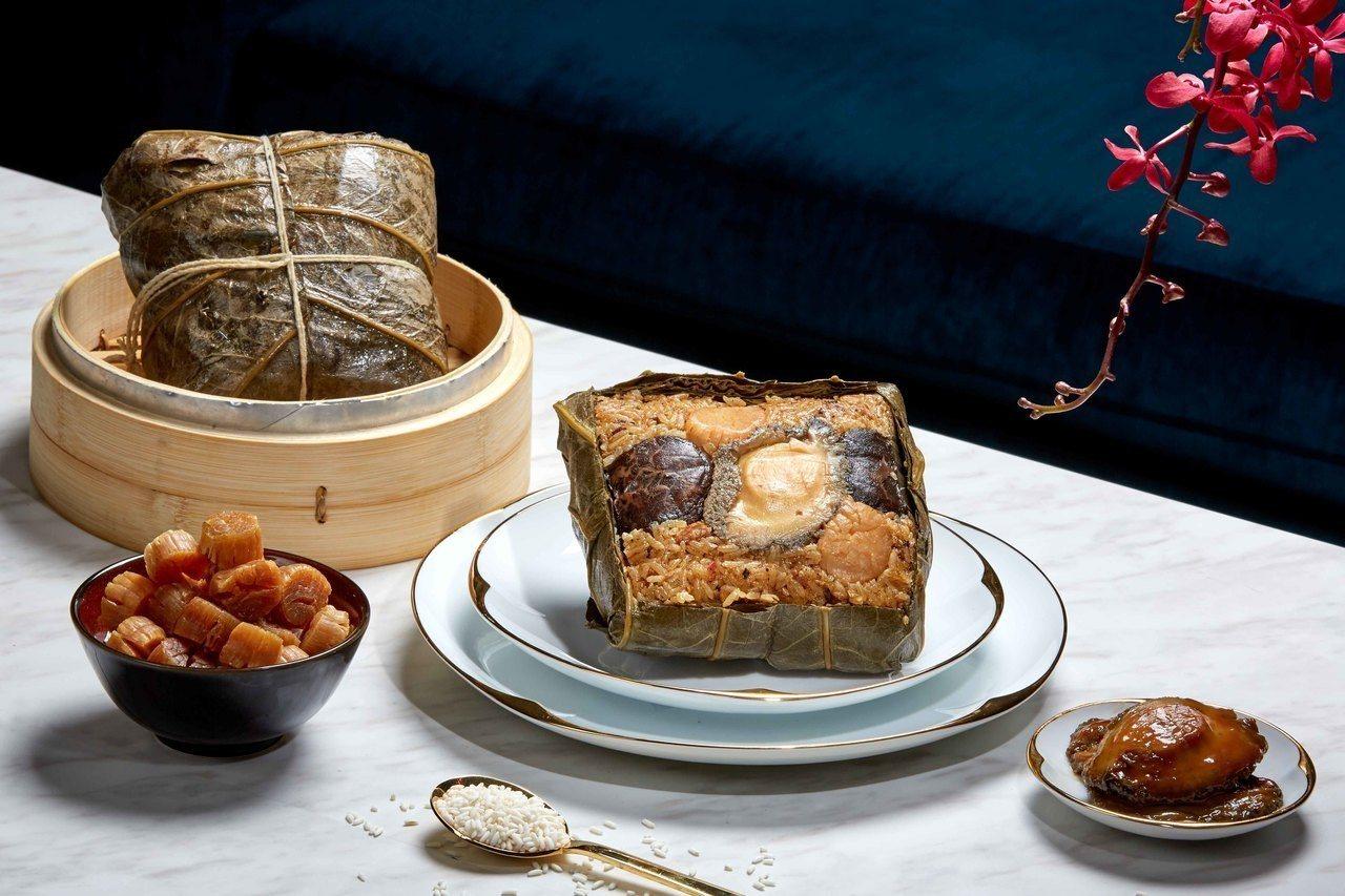 頂級鮑魚粽。 圖/台北國賓提供