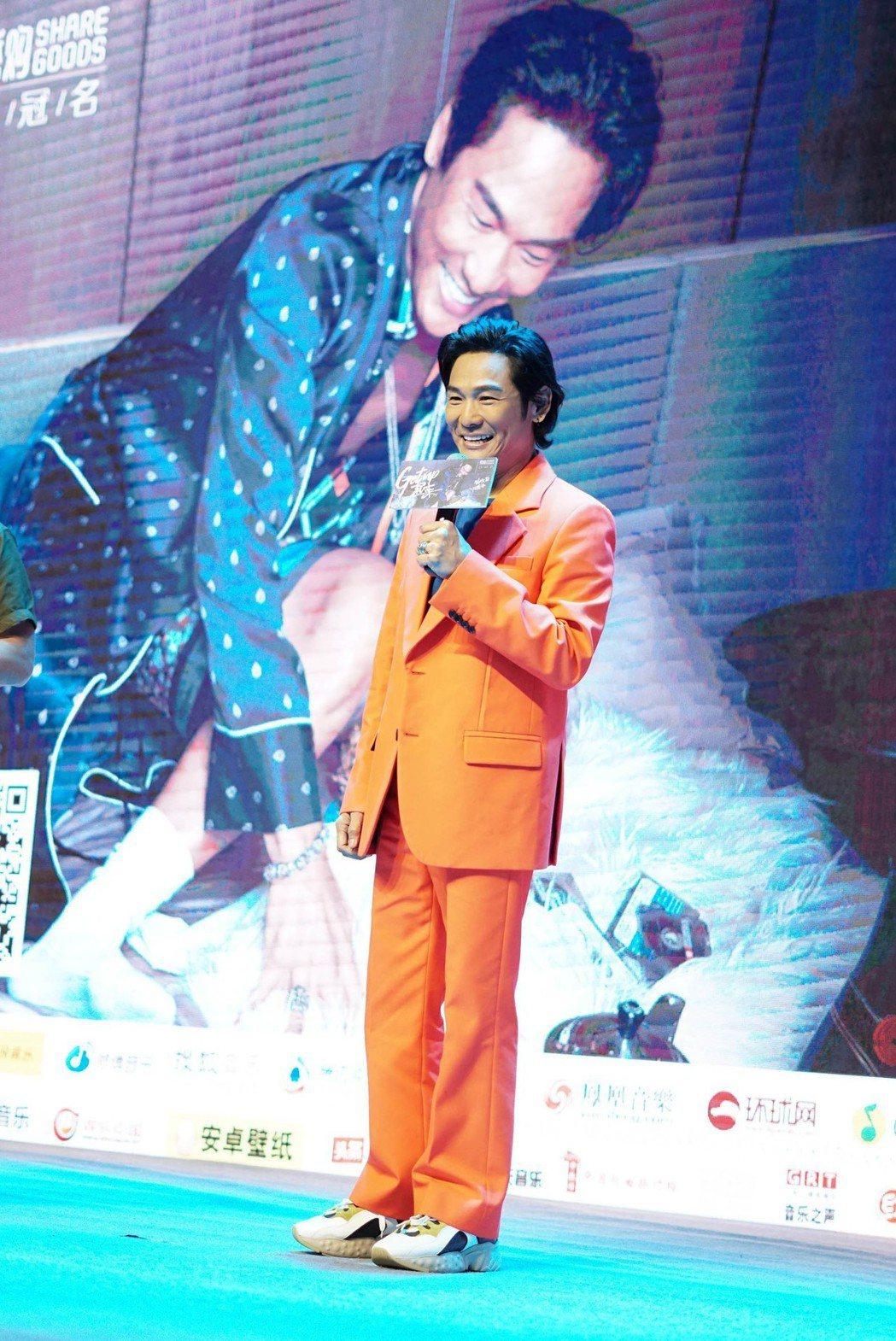 杜德偉9日在北京舉辦新專輯「起來」發片記者會,兒子也到場支持。圖/杜德偉工作室提...