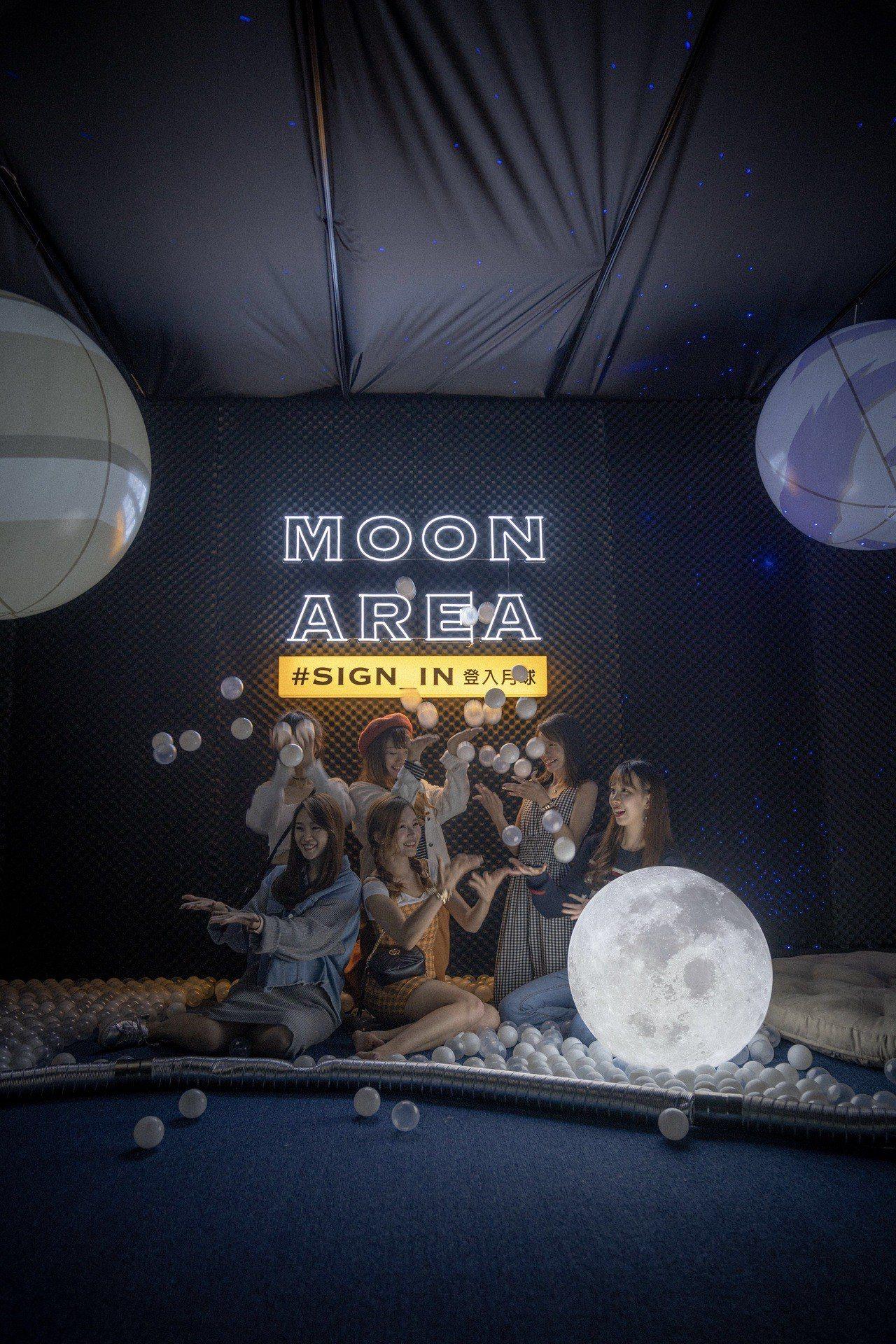 新光三越A11 6F信義劇場「SIGN IN登入月球」。圖/新光三越提供