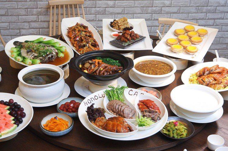 檀島咖啡劍南店推出桌菜料理,每套10888元起。記者陳睿中/攝影