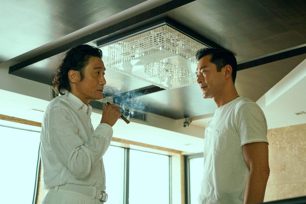梁家輝、古天樂在「追龍II:賊王」有許多精彩演出。圖/華映提供