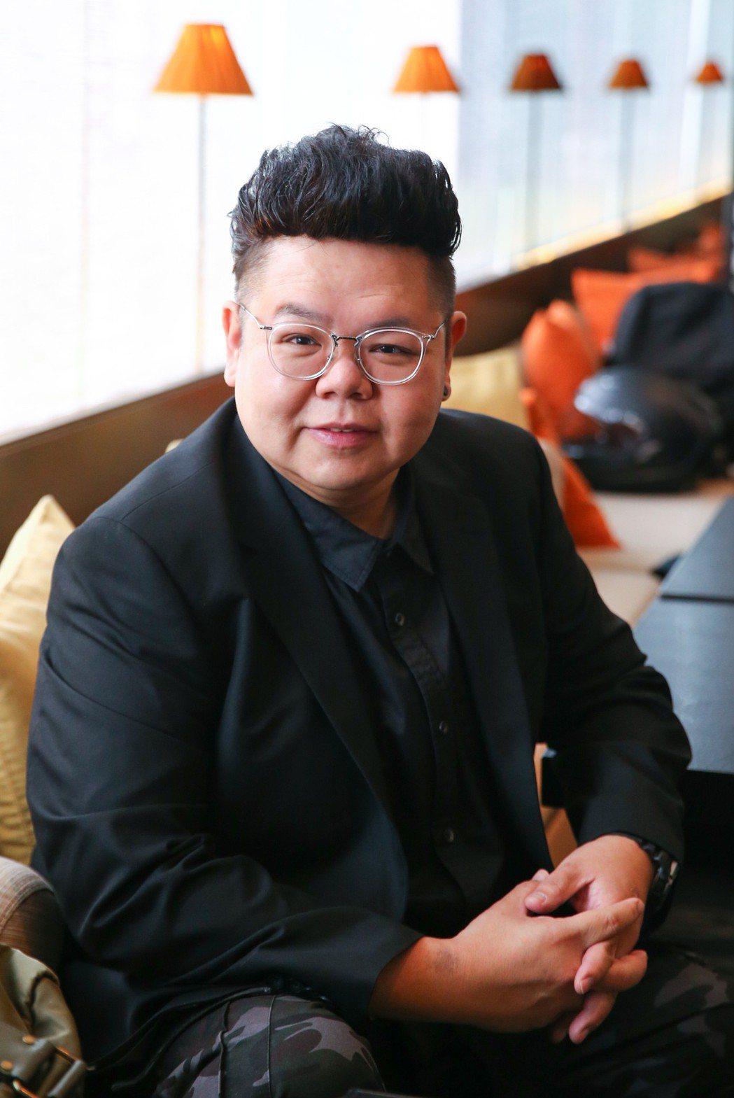 香港「御用肥仔」演員易智遠Tony Yee來台宣傳單曲。記者王騰毅/攝影