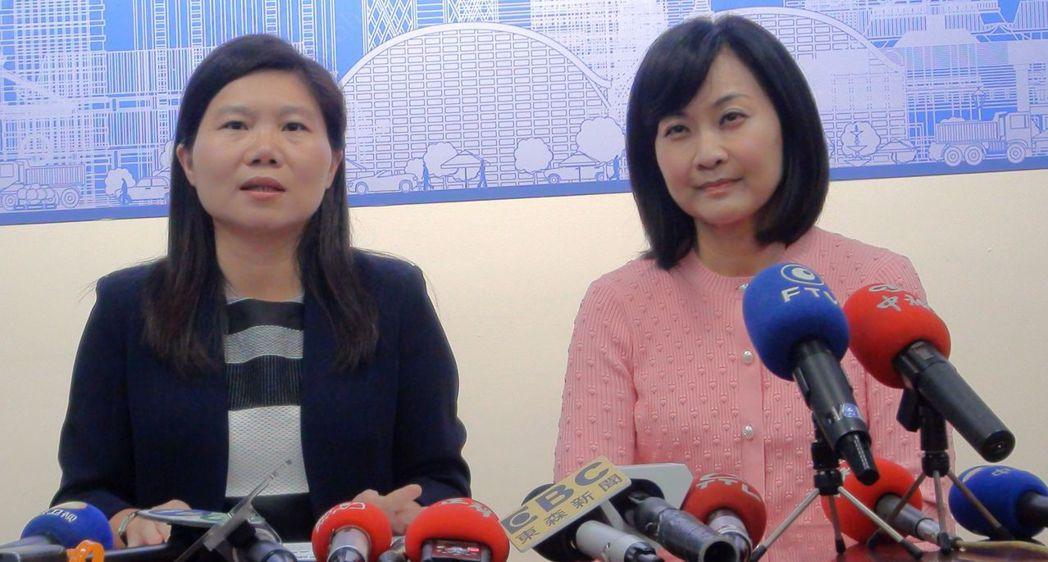 高雄市議會國民黨團書記長李雅靜(左)、議員陳麗娜。圖/聯合報系資料照片