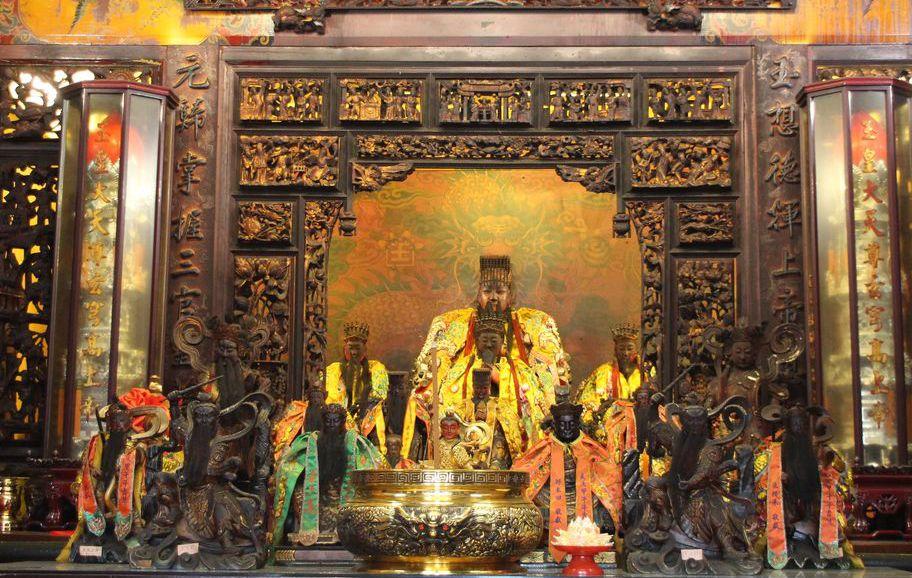 部分道教人士認為,現在的玉皇大帝就是關公。圖為桃園八德區霄裡天公廟玉元宮的玉皇大...