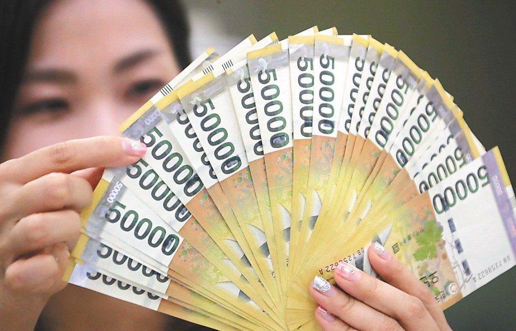 今年以來,主要貿易對手國韓元貶幅超前新台幣,恐不利台灣出口。 歐新社