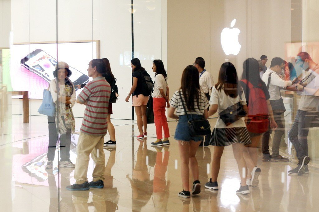 位於台北101的台灣首間蘋果直營店Apple Store。聯合報系資料照