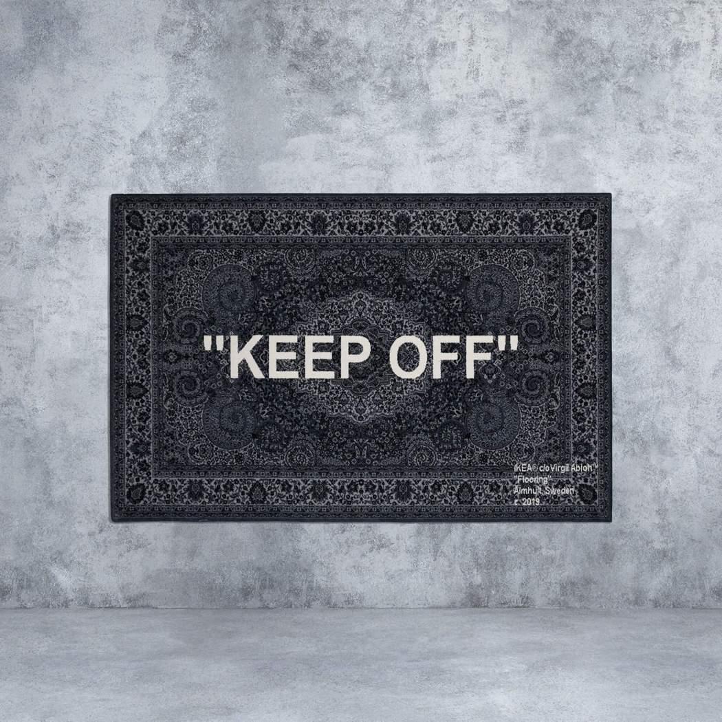 知名藝術家用地毯說故事,Off-white聯名地毯以諷刺手法傳達幽默與省思。 I...