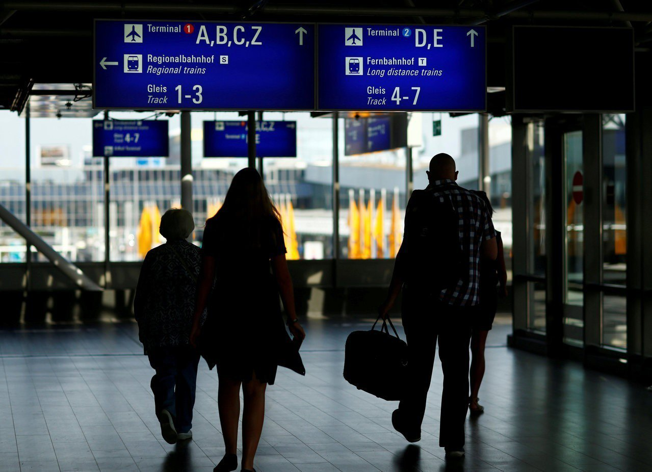 德國法蘭克福機場。路透