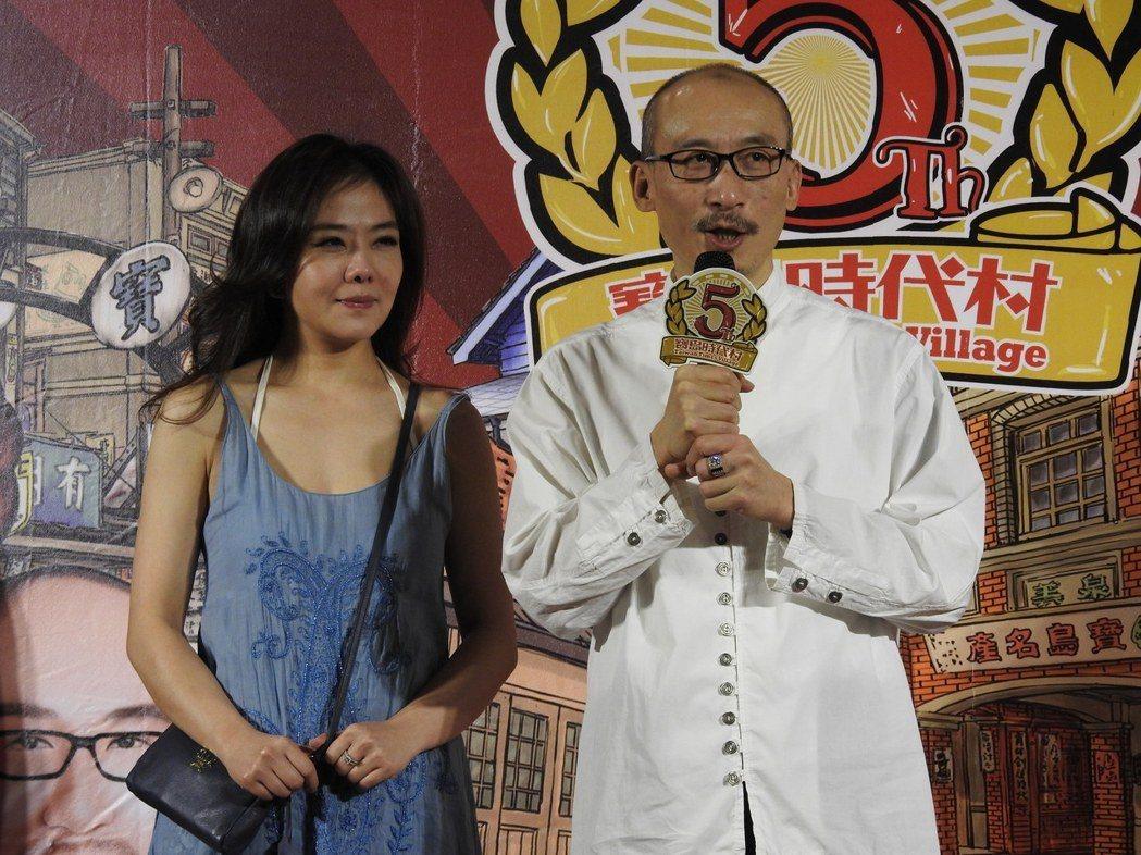江欽良和小潘潘過去夫唱婦隨,一同經營寶島時代村。圖/本報資料照片
