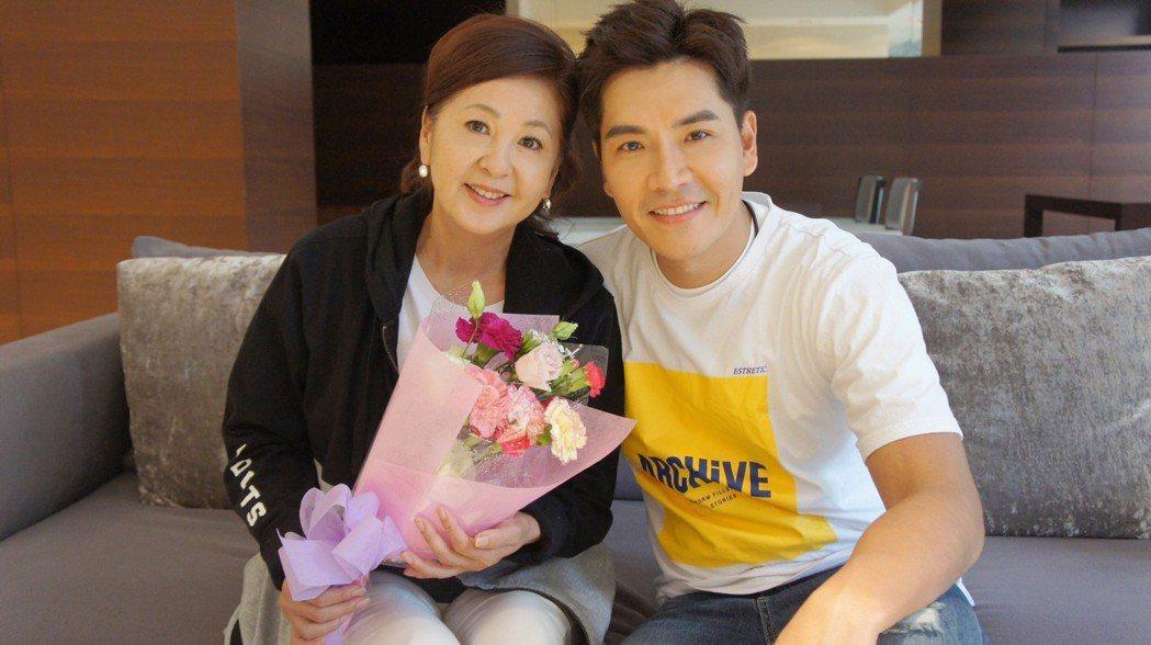 王傳一結婚後,多了岳母李瑞美對他的愛,才覺得有媽的孩子像個寶。圖/嚞娛樂提供