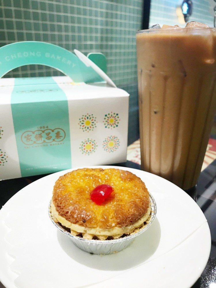 泰昌餅家「招牌椰撻」每個售價45元,每日限量200份。圖/環球購物中心提供