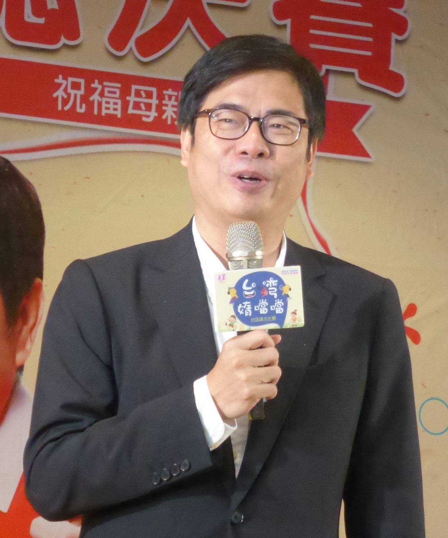 行政院副院長陳其邁談到網路攻擊,呼籲有很多粉絲的政治人物要帶頭講講話。記者楊濡嘉...