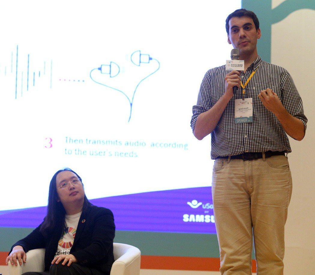 阿根廷uSound共同創辦人Ignacio Isoardi強調,60%的聽損是可...