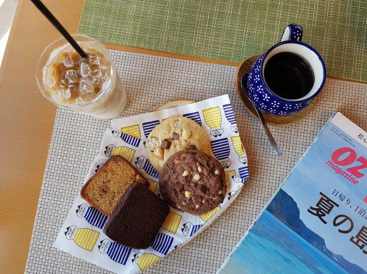 shimafumi的咖啡、奶茶或是點心,均有一定水準。記者陳睿中/攝影