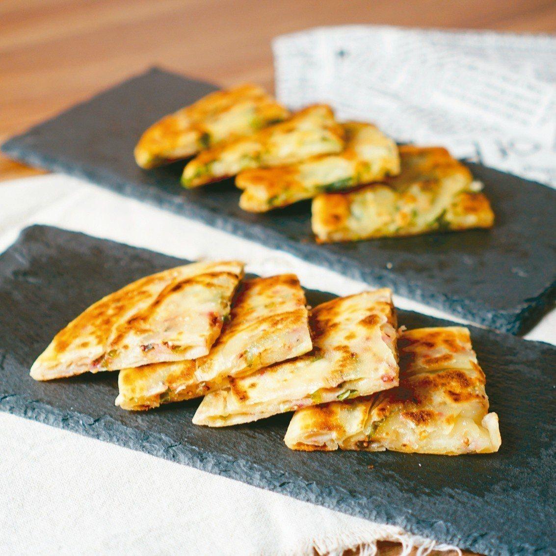 紅藜蔥油餅。 圖/柴米夫妻提供