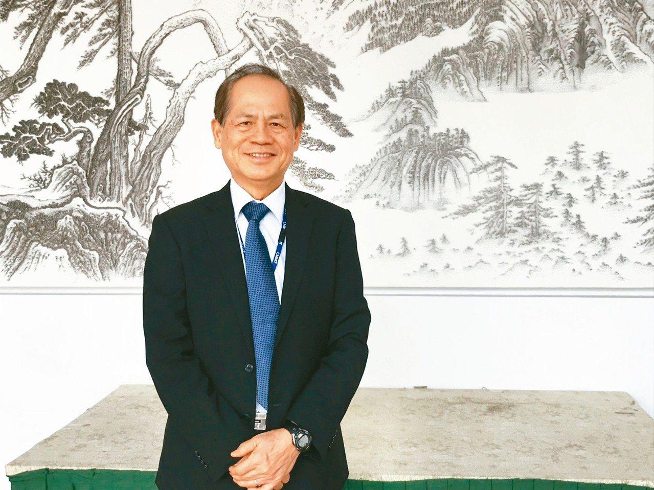 誠美材董事長何昭陽。 記者蔡銘仁/攝影