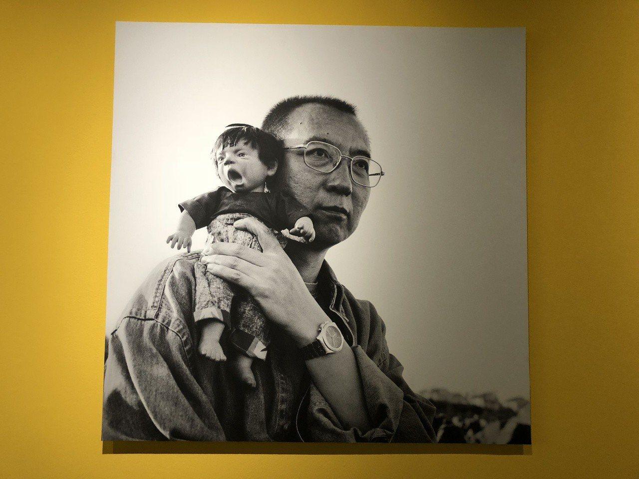 諾貝爾和平獎得主劉曉波之妻劉霞與台灣藝術家蔡海如合作《呼吸鞦韆》,圖為劉霞作品。...