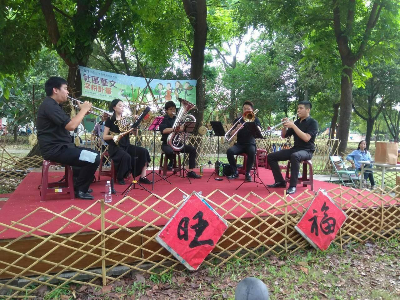 國立台灣交響樂團的克羅采交響管樂團演出。圖/翁坤明提供