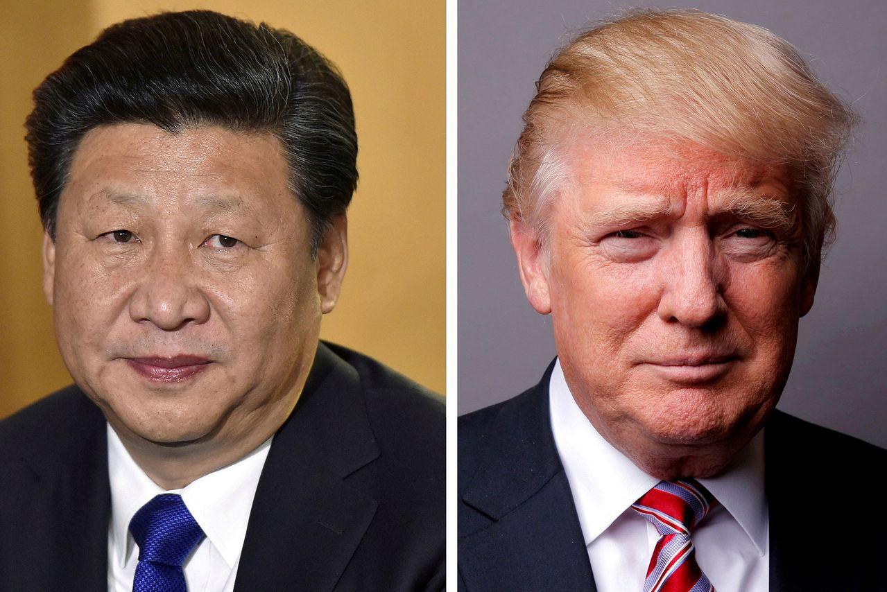 美中貿易戰還有得打,圖左為習近平,圖右為川普。 路透社