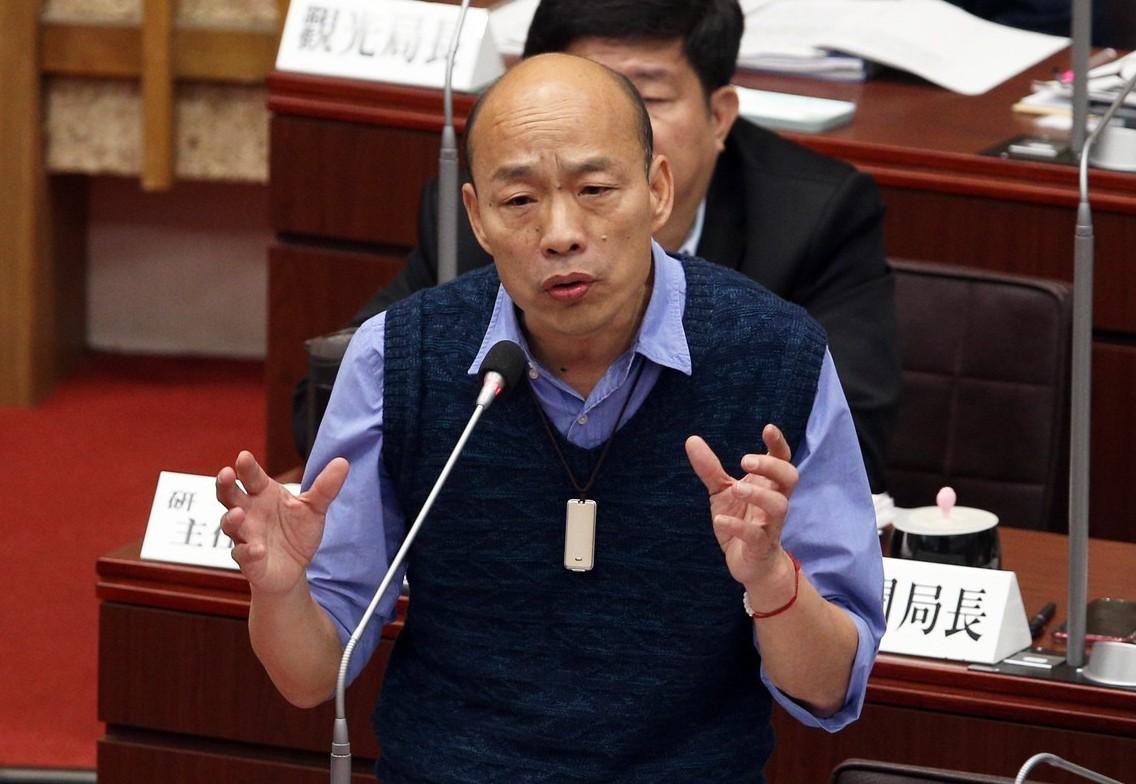高雄市長韓國瑜的網路負評近來大幅增加。 聯合報系資料照/記者劉學聖攝影