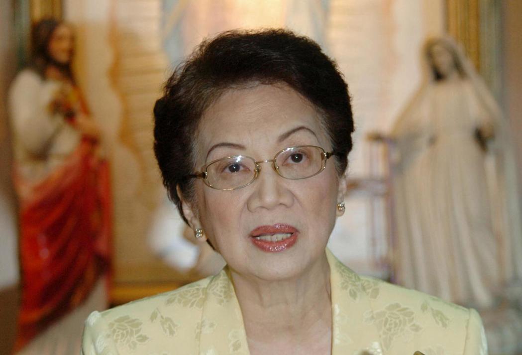 菲律賓前總統柯拉蓉.艾奎諾。 (法新社)