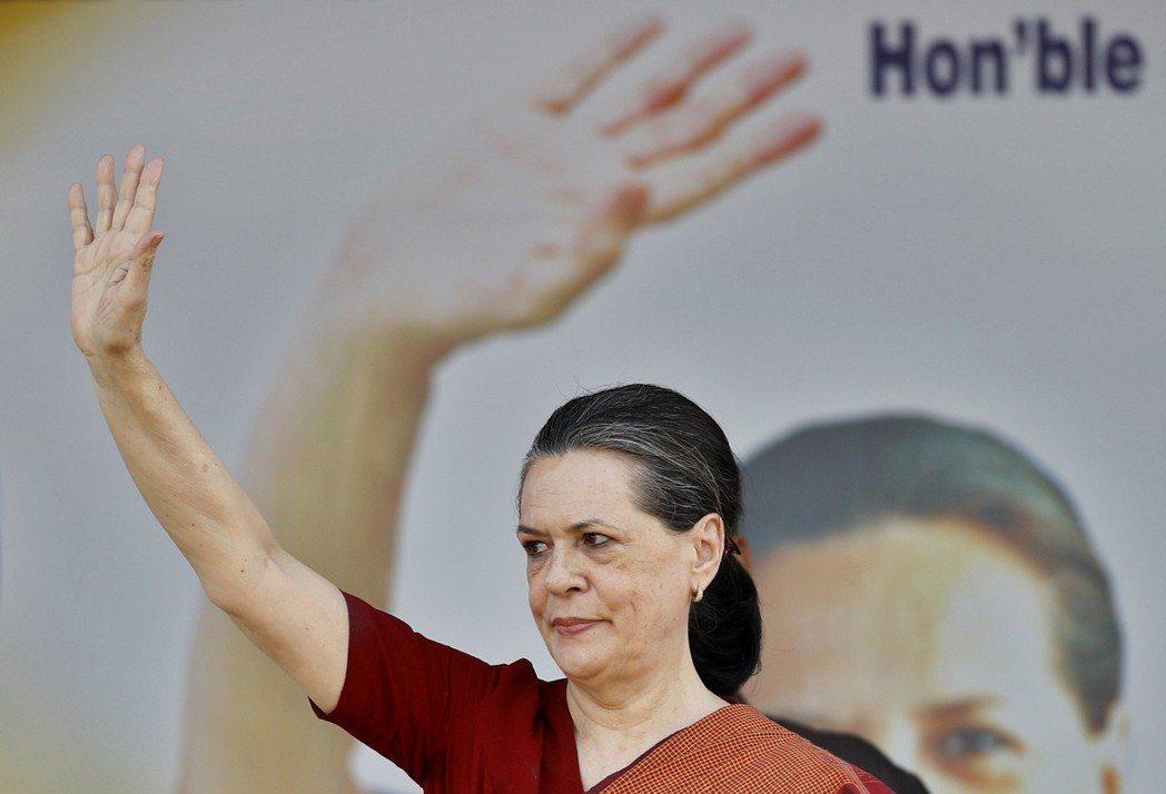 印度前總理拉吉夫.甘地的遺孀桑妮亞.甘地。 (美聯社)