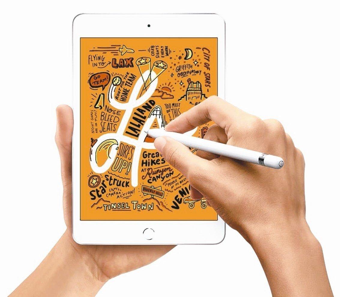 研調機構指出,蘋果受惠新款iPad助攻,在全球平板市占率上升到27.1%,穩居龍...