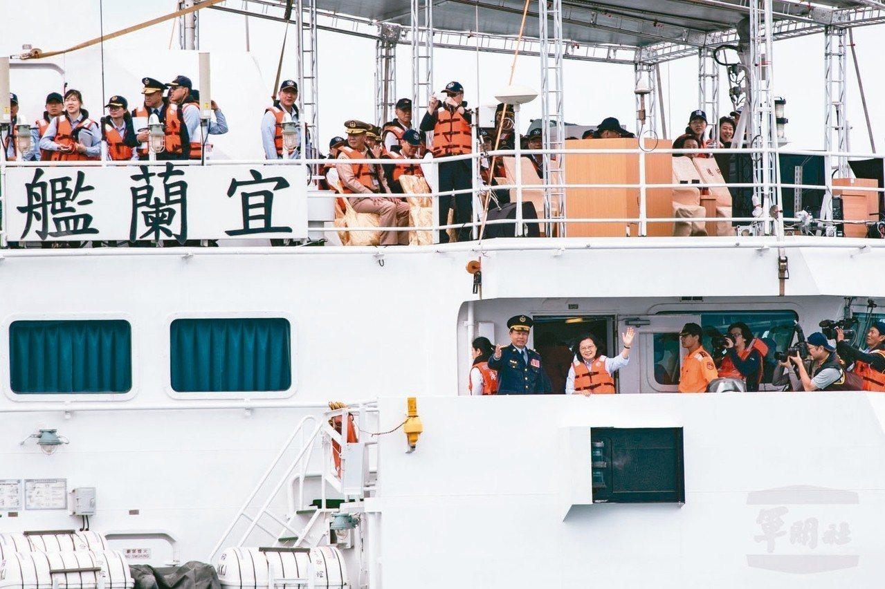 日前台北港舉行海安演習,由蔡英文總統親校。 圖/軍聞社提供