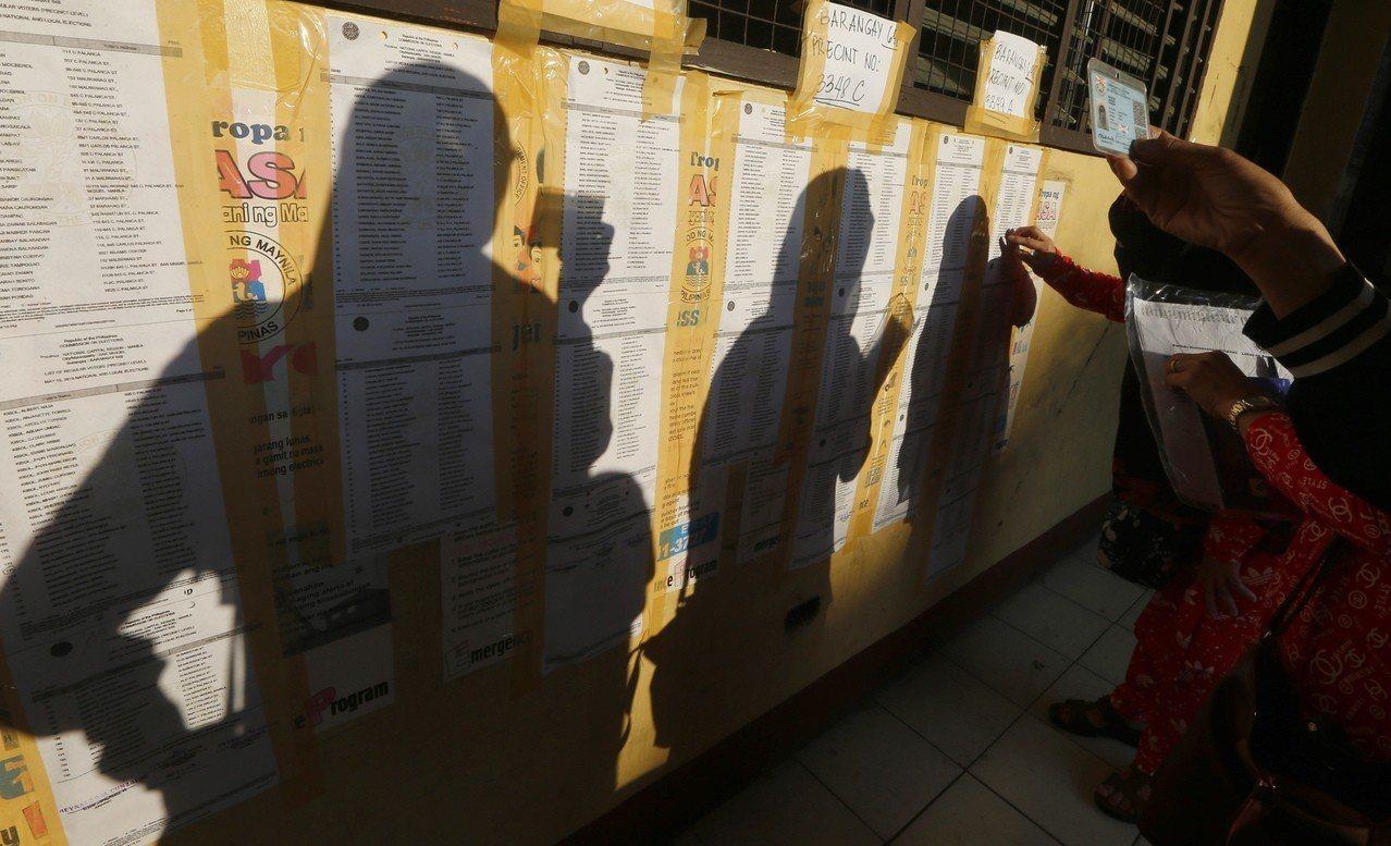 菲律賓期中選舉今登場。 美聯社