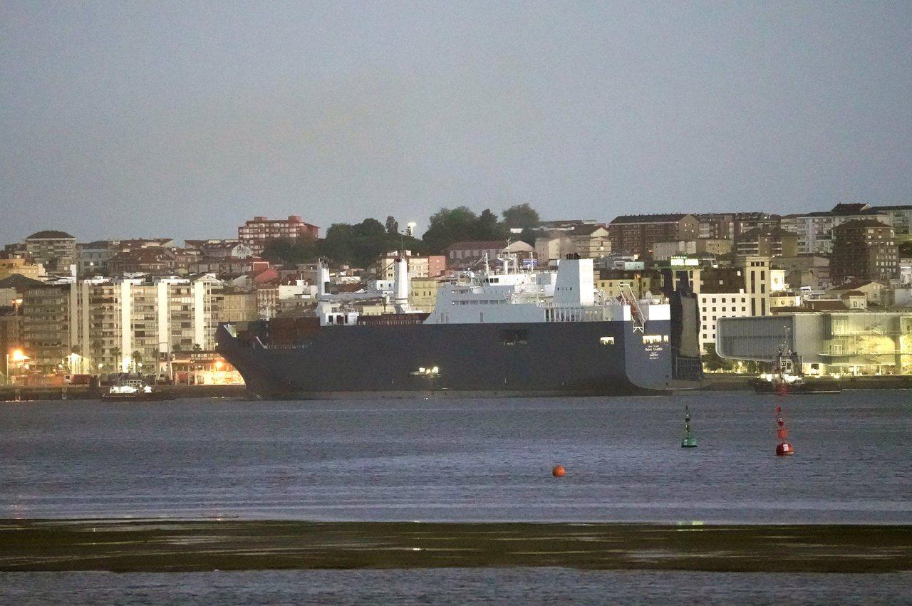 一艘沙烏地阿拉伯籍船舶在法國勒哈佛港(Le Havre)裝載軍火不成後,今天上午...