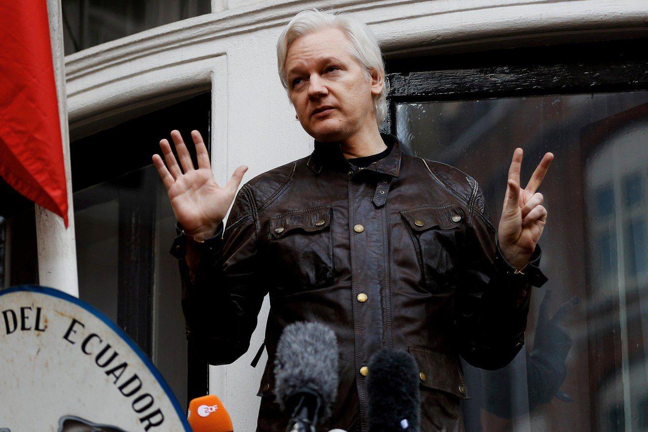 維基解密(WikiLeaks)創辦人亞桑傑。 路透社