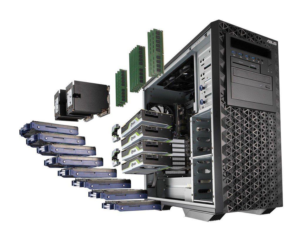 ASUS WS980T工作站最高搭載多達56核心的雙Intel Xeon 處理器...