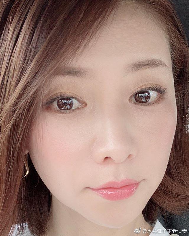 水谷雅子7日才曝光的近照。圖/擷自微博