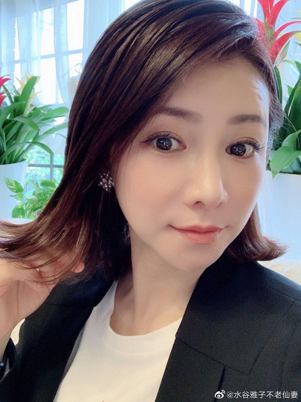 水谷雅子有「不老仙妻」美名,圖為今年5月3日雅子所光近照。圖/擷自微博
