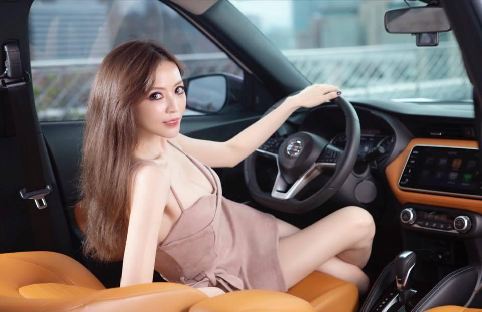Lucy倪千凌是知名車模。 圖/擷自倪千凌臉書