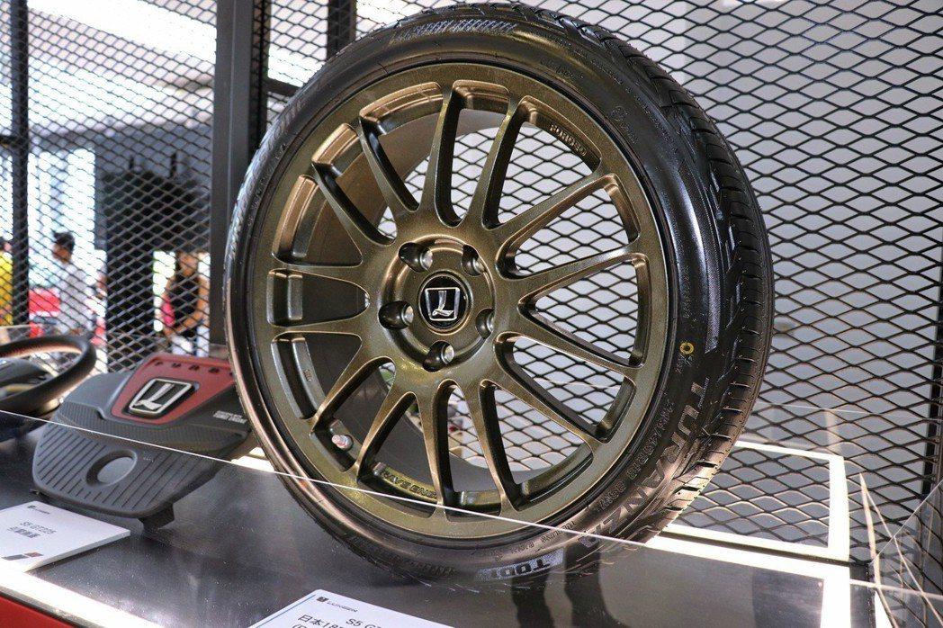世界一級賽事輪圈供應商RAYS 18吋輕量化鍛造鋁圈、BRIDGESTONE專屬...