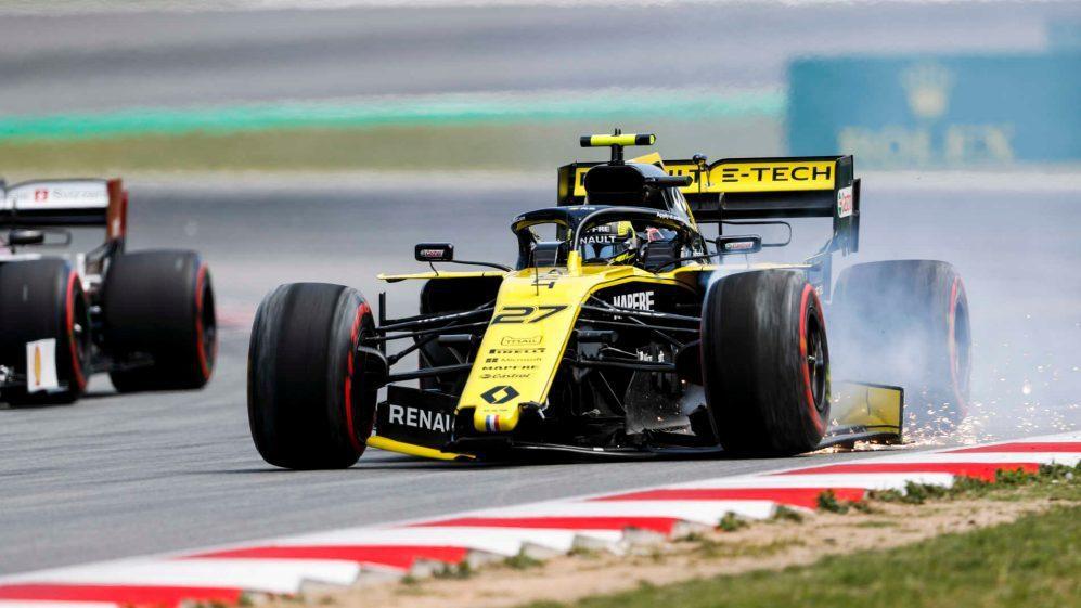 Nico Hulkenberg在排位賽時弄傷前鼻翼。 摘自F1
