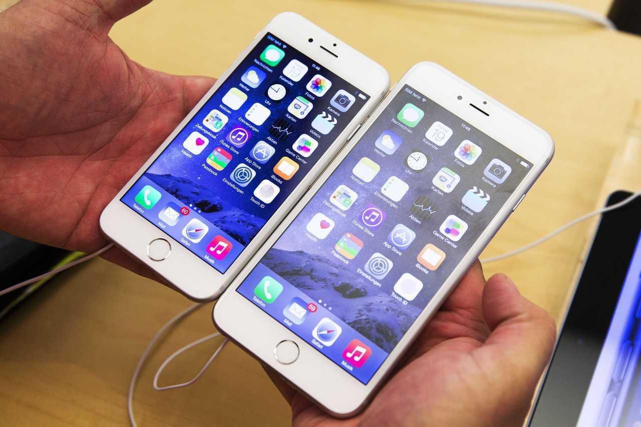 iPhone 6與6 plus。 歐新社資料照