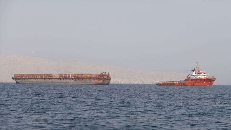 阿拉伯聯合大公國七個酋長國之一的富吉拉港口景象。路透