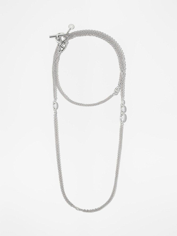 愛馬仕Farandole系列純銀項鍊,10萬2,400元。圖/愛馬仕提供