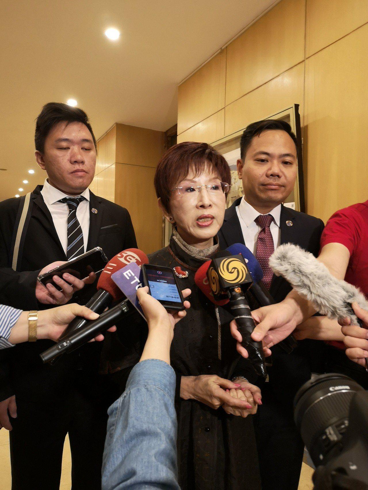 洪秀柱與陸方座談,發表六項共同倡議。記者賴錦宏攝影