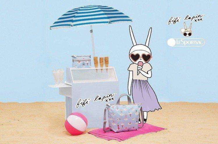 相隔十年,LeSportsac請到二度合作的時尚界知名兔子Fifi Lapin再...