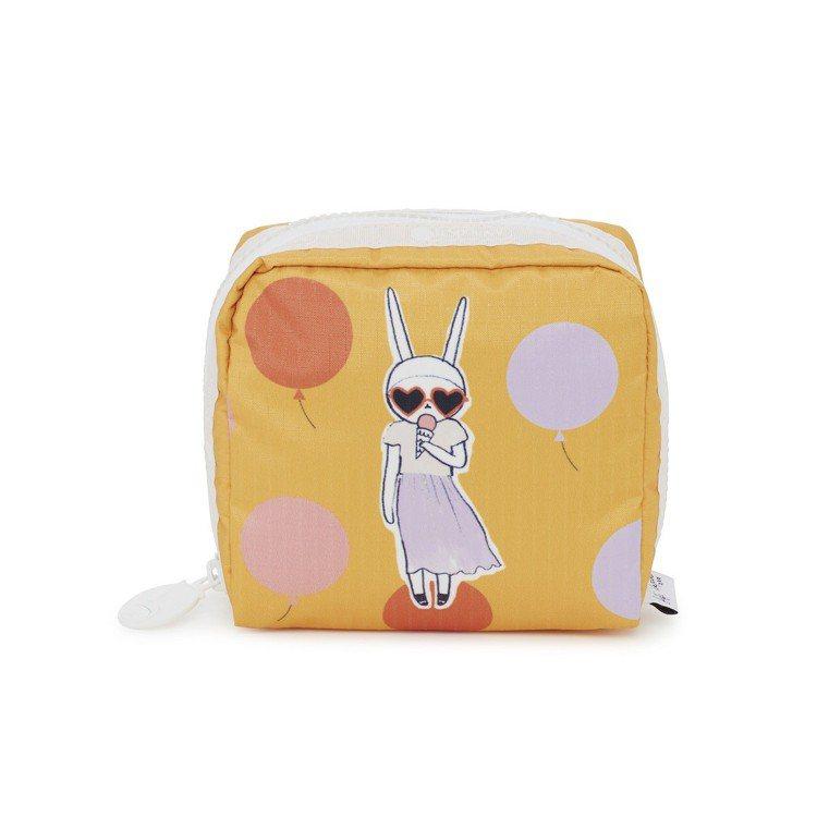 LeSportsac x Fifi Lapin冰淇淋女孩中方形化妝包,1,400...