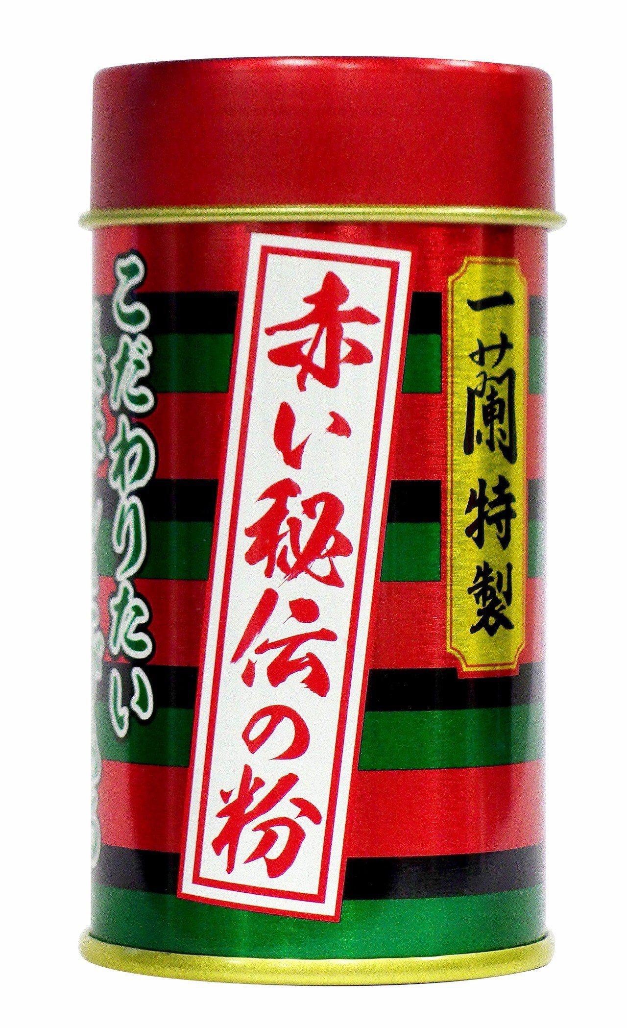台灣直營店舖限定「赤紅秘製辣粉」售價340元(14g)。圖/台灣一蘭提供