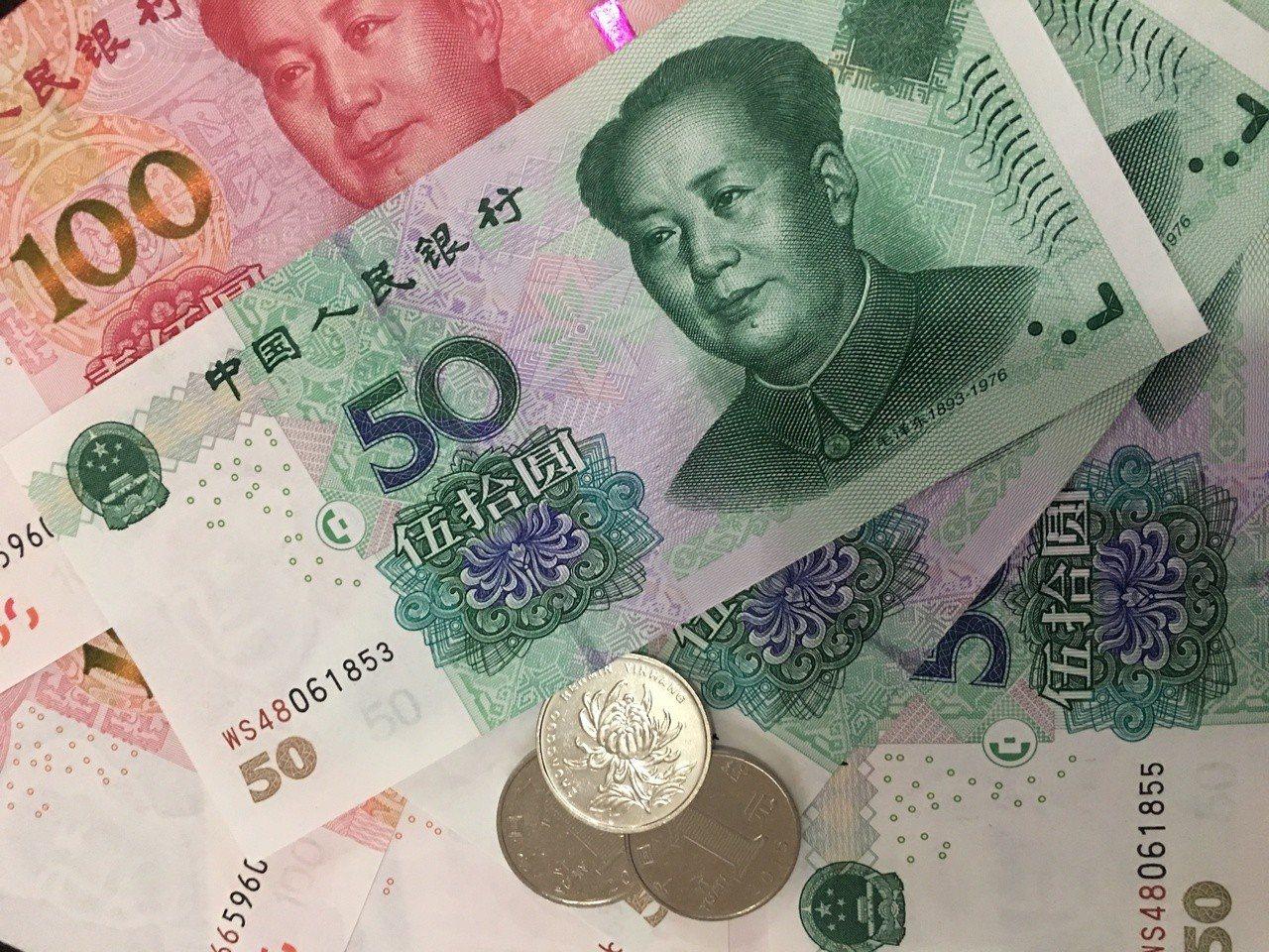 中美貿易戰恐全面引爆,拖累人民幣兌美元持續走低。圖/聯合報系資料照片