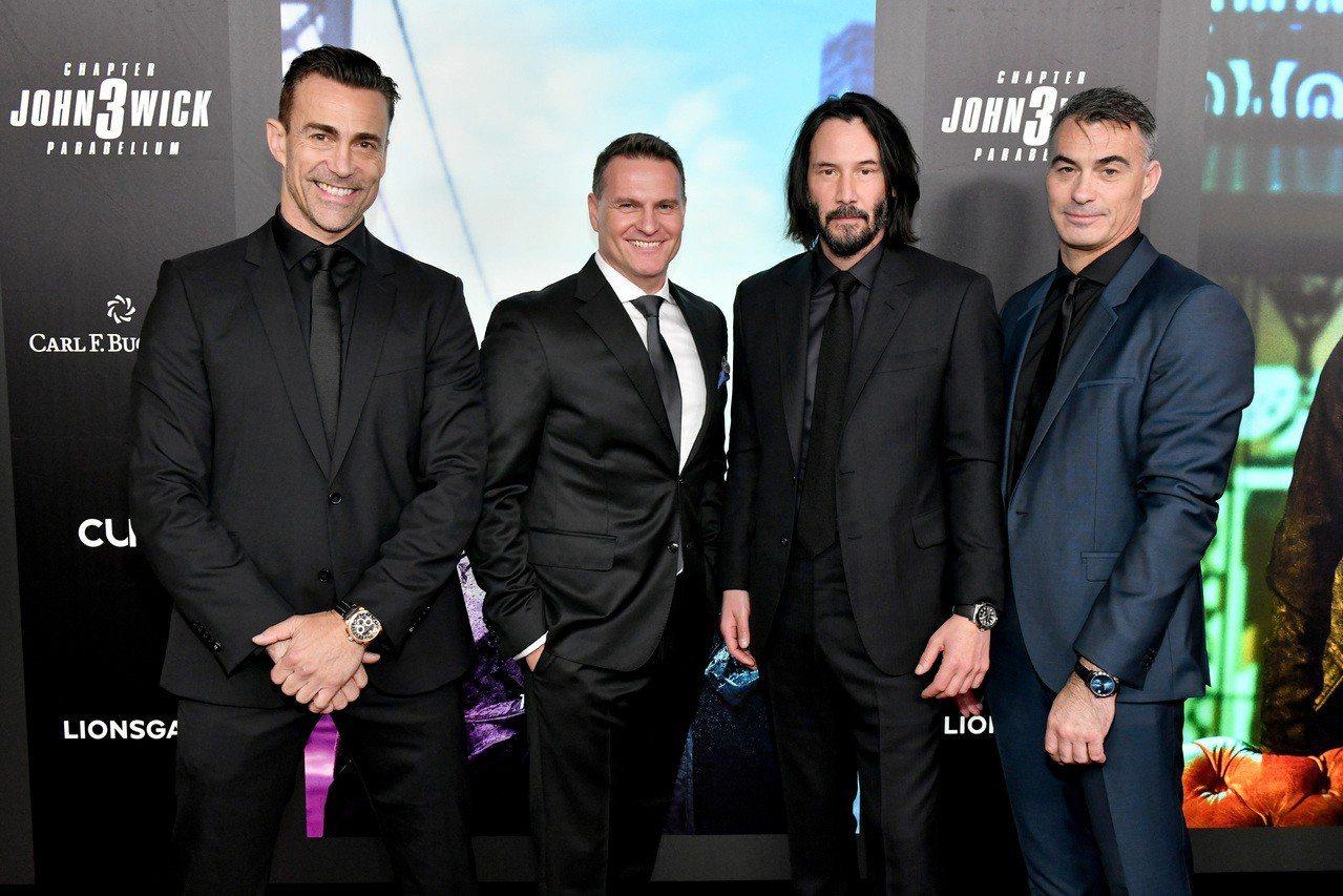 (由右至左)寶齊萊品牌大使Daniel Bernhardt、寶齊萊CEO Sas...