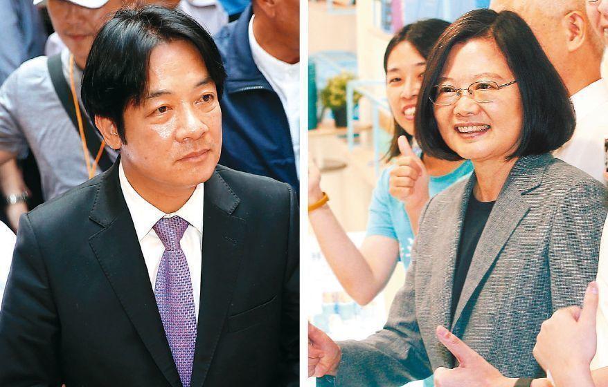 蔡英文總統(右)、行政院前院長賴清德(左)。圖/聯合報系資料照片